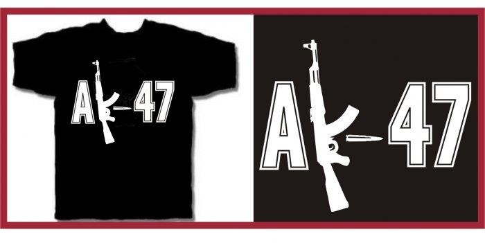 AK47 machine gun T-Shirts medium