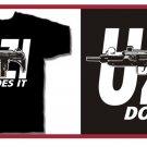 UZI does it Eazy hip e hop gun T-Shirt Small