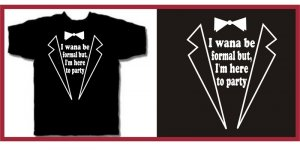 ... Im Here To Party tux talladega ferrell T-Shirt M