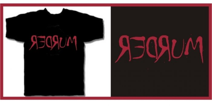 Redrum MURDER shinig movie T-SHIRT black MEDIUM