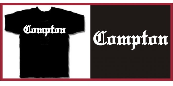 COMPTON EAZY E HIP HOP NWA T-SHIRT BLACK MEDIUM