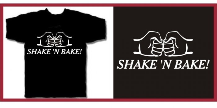 SHAKE 'N BAKE ferrell Taladega T-SHIRT black medium