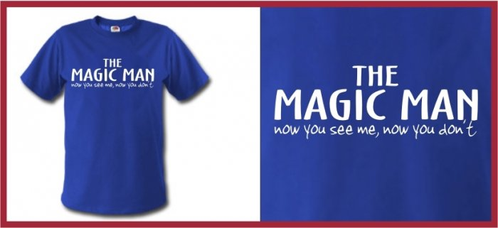 THE MAGIC MAN ferrell Taladega T-SHIRT blue LARGE