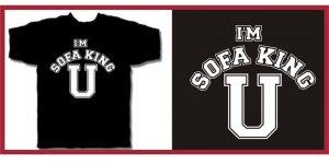I'M SOFA KING U college porn funny T-Shirt black L