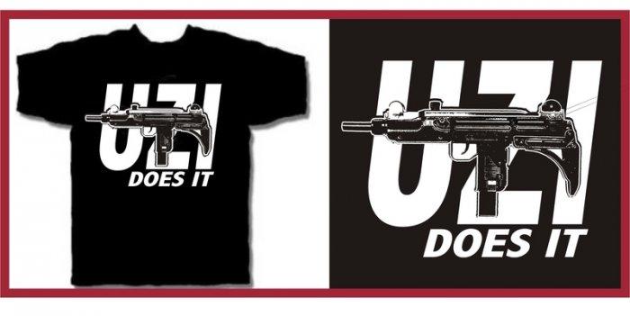 UZI does it Eazy hip e hop gun T-Shirt Large