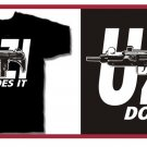 UZI does it Eazy hip e hop gun T-Shirt Large