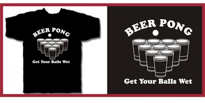 BEER PONG get your balls wet drunk T-Shirt Large