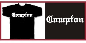 COMPTON EAZY E HIP HOP NWA T-SHIRT BLACK Large