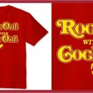 ROCK OUT WITH YOUR COCK OUT T-SHIRT red XL