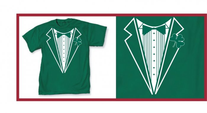 Irish leprecon St. patric tux green X-T-Shirt