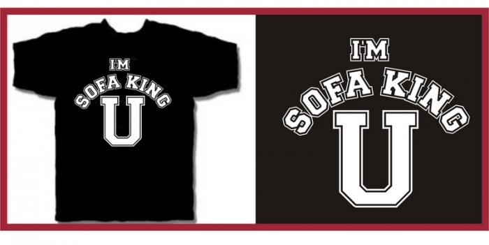 I'M SOFA KING U college porn funny T-Shirt XXL