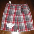 VANS Red Plaid Skate Shorts - Size 36