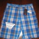 VANS Blue Plaid Skate Shorts - Size 36