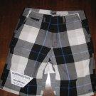 VANS White, Black & Blue Skate Shorts - Size 36