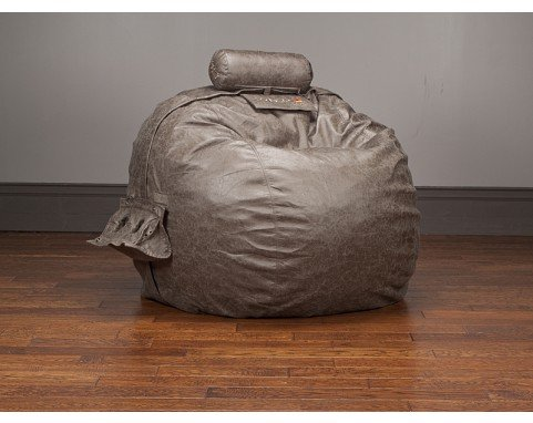 LoveSac Smoke Microleather TubeSac Pillow for Oversized Sacs