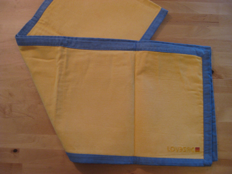 RARE! Original LoveSac Table Runner Yellow / Blue
