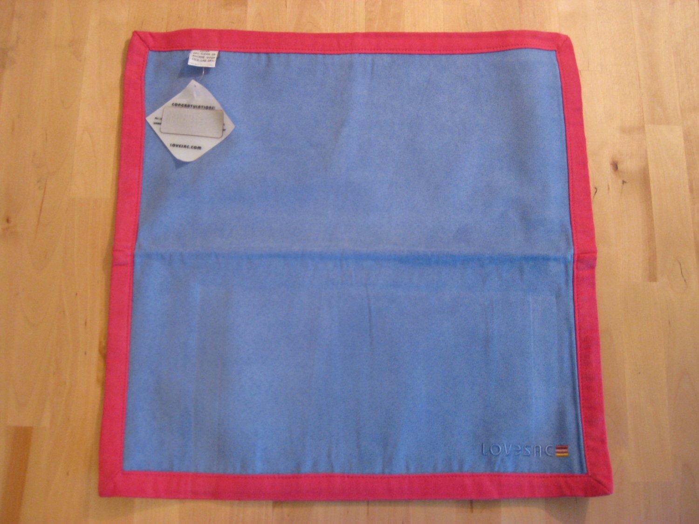 RARE! Original LoveSac Placemat Blue / Pink