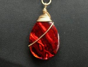 Pendant - Luscious Red Paua Shell