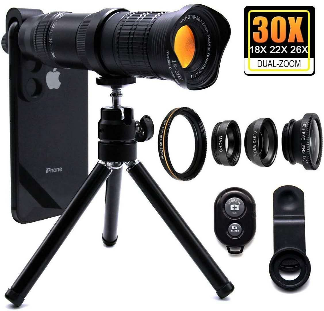 quality design 7f659 93f91 18X-30X Zoom Telephoto Lens for iPhone XS, iPhone XS Max, iPhone X ...