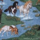 MadieBs /Wild Horses Stream River Crib Sheet Custom New