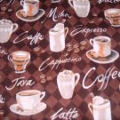 MadieBs Coffee Cups Java  Custom  Window Valance New