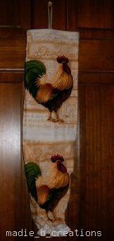 MadieBs Rooster Cock  Plastic Bag Holder Dispenser
