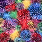 MadieBs Colorful Fireworks  Custom Smock Cobbler Apron