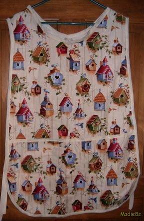 MadieBs Spring Birdhouses  Custom Smock Cobbler Apron