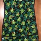MadieBs Irish Shamrock Frogs Custom Smock Cobbler Apron