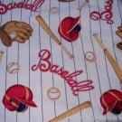 MadieBs baseball Bat GloveCrib/Toddler Bed Sheet Set