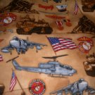 MadieBs United States Marines Toddler Sheet Set