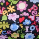 MadieBs Love Peace Floral  Crib/Toddler Bed Sheet Set