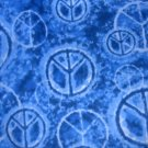 MadieBs Blue Peace Sign  Crib/Toddler Bed Sheet Set