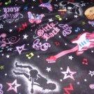 MadieBs Girls Rock Glitter  Crib/Toddler Bed Sheet Set