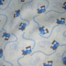 MadieBs Little Blue Train  Crib/Toddler Bed Sheet Set