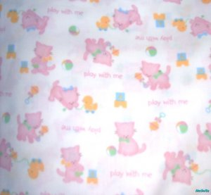 MadieBs Kitty Cat Cute Pink Crib/Toddler Bed Sheet Set