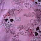 MadieBs  Pink Skulls  Travel Toddler Pillowcase w/name