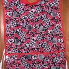 MadieBs Red Black  Hearts Custom Smock Cobbler Apron