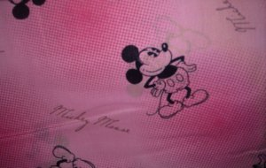 MadieBs Mickey Mouse Pink Crib/Toddler Bed Sheet Set