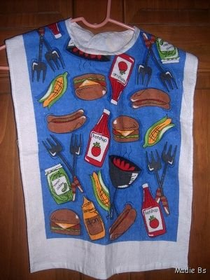 MadieBs Custom Adult Special Needs Bib Picnic Time