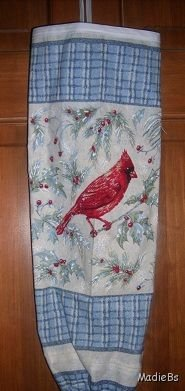 MadieBs Cardinal Red Bird Bag Holder Dispenser New