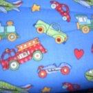 MadieBs Set of 2 Cars Trucks Blue Custom  Crib Sheets