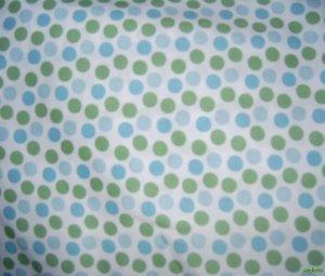 MadieBs Set of 2   Blue & Green Dots New  Crib Sheets