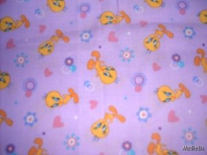 MadieBs Tweetyt Bird Hearts Toddler Pillowcase w/name