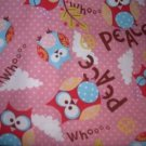MadieBs Whimsy Owls Peaace  Custom  Pillowcase  w/Name