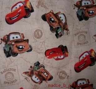 MadieBs Tan Disney Cars Mater Custom  Bumper Pads Crib