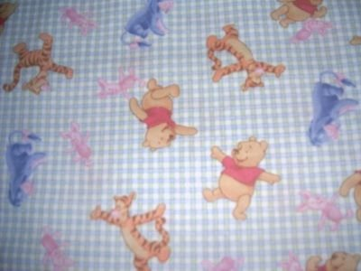 MadieBs Gingham Winnie the Pooh   Crib Sheet Custom New
