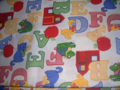 MadieBs A B C 's Animals Toddler Bed Sheet Set 3 Pc