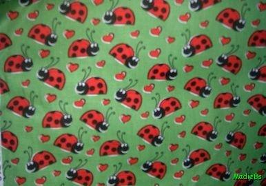 MadieBs LadyBugs and Hearts  Custom  Pillowcase  w/Name
