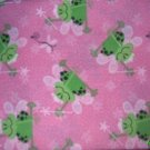 MadieBs Cute Frogs on Pink  Custom  Pillowcase  w/Name